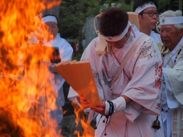 平時の御神火大祭の様子